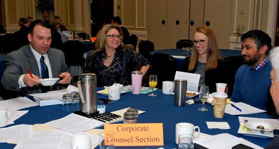 Corporate Counsel Section members meet at annual breakfast session during Annual Meeting-2017