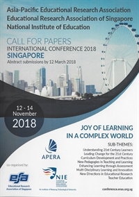 Educational Research Association of Singapore-Asia-Pacific (ERAS-APERA) International Conference 201