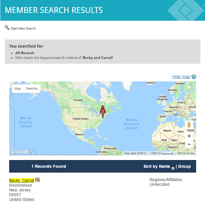Member Search Results
