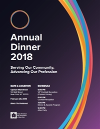 2018 Annual Dinner: Ticket Page