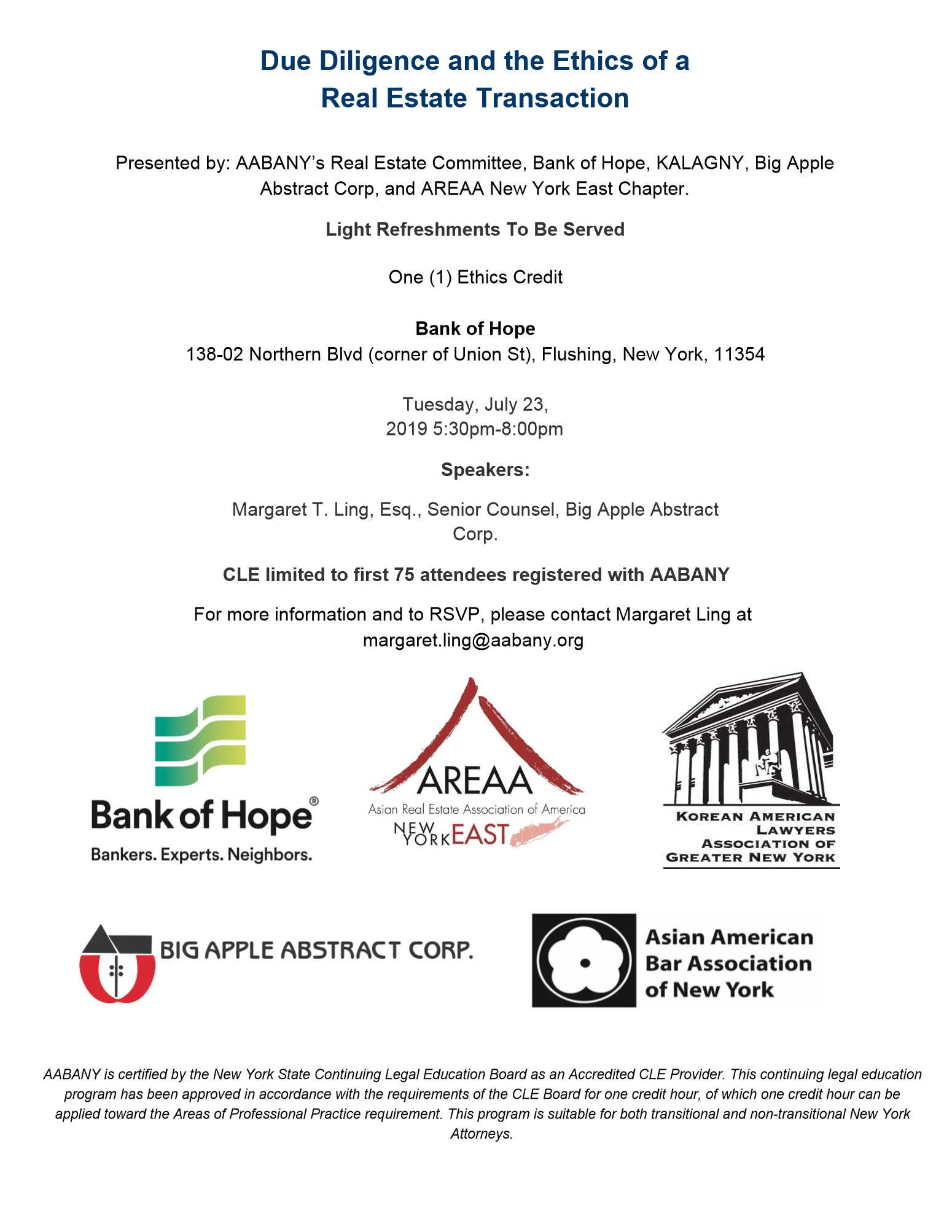 AABANY Announcements: July 8, 2019 - Asian American Bar Association