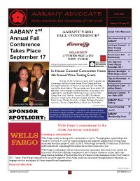 AABANY Advocate Fall 2011