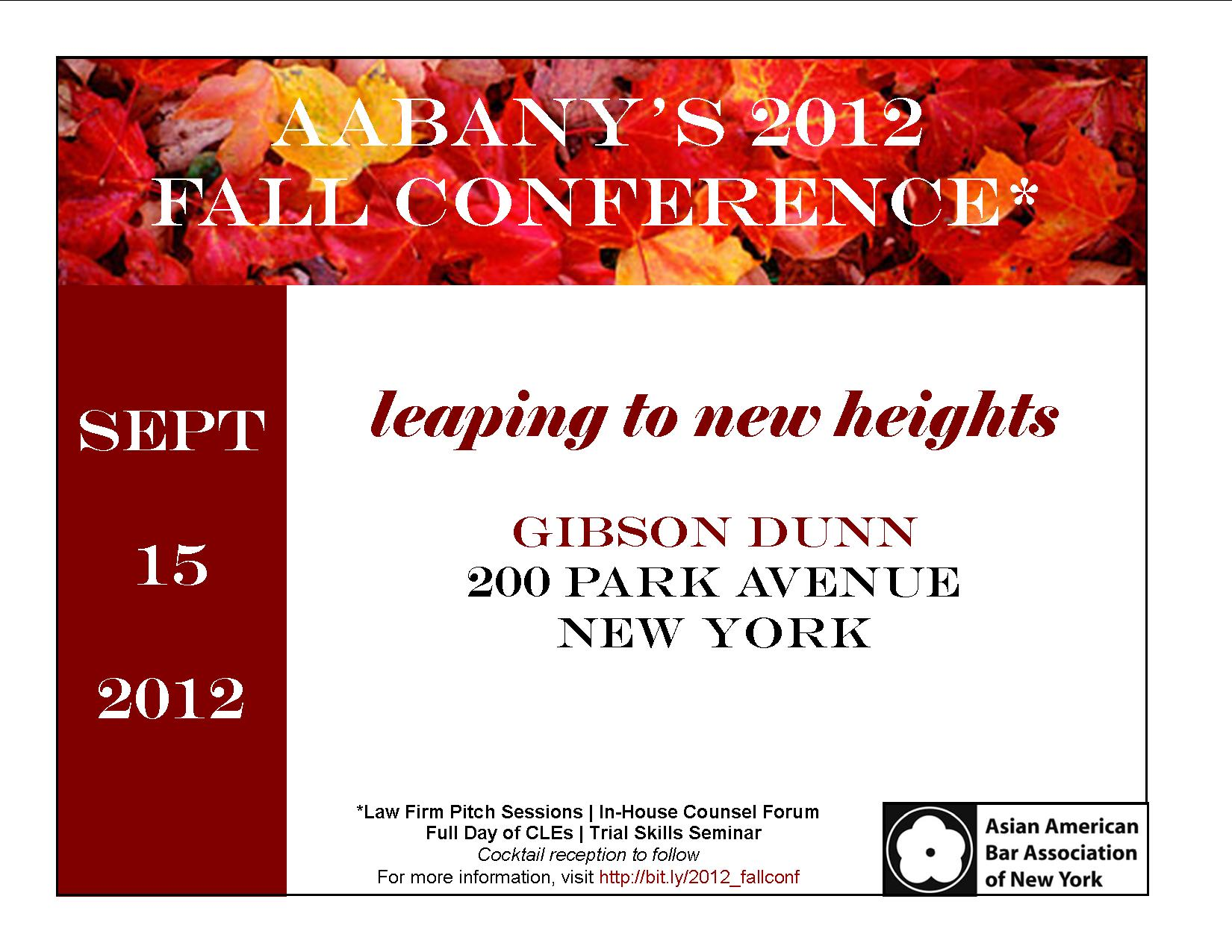 Fall Conference 2012