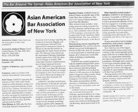 NY State Bar News Bar Around the Corner AABANY