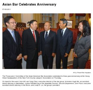 Asian Bar Celebrates Anniversary