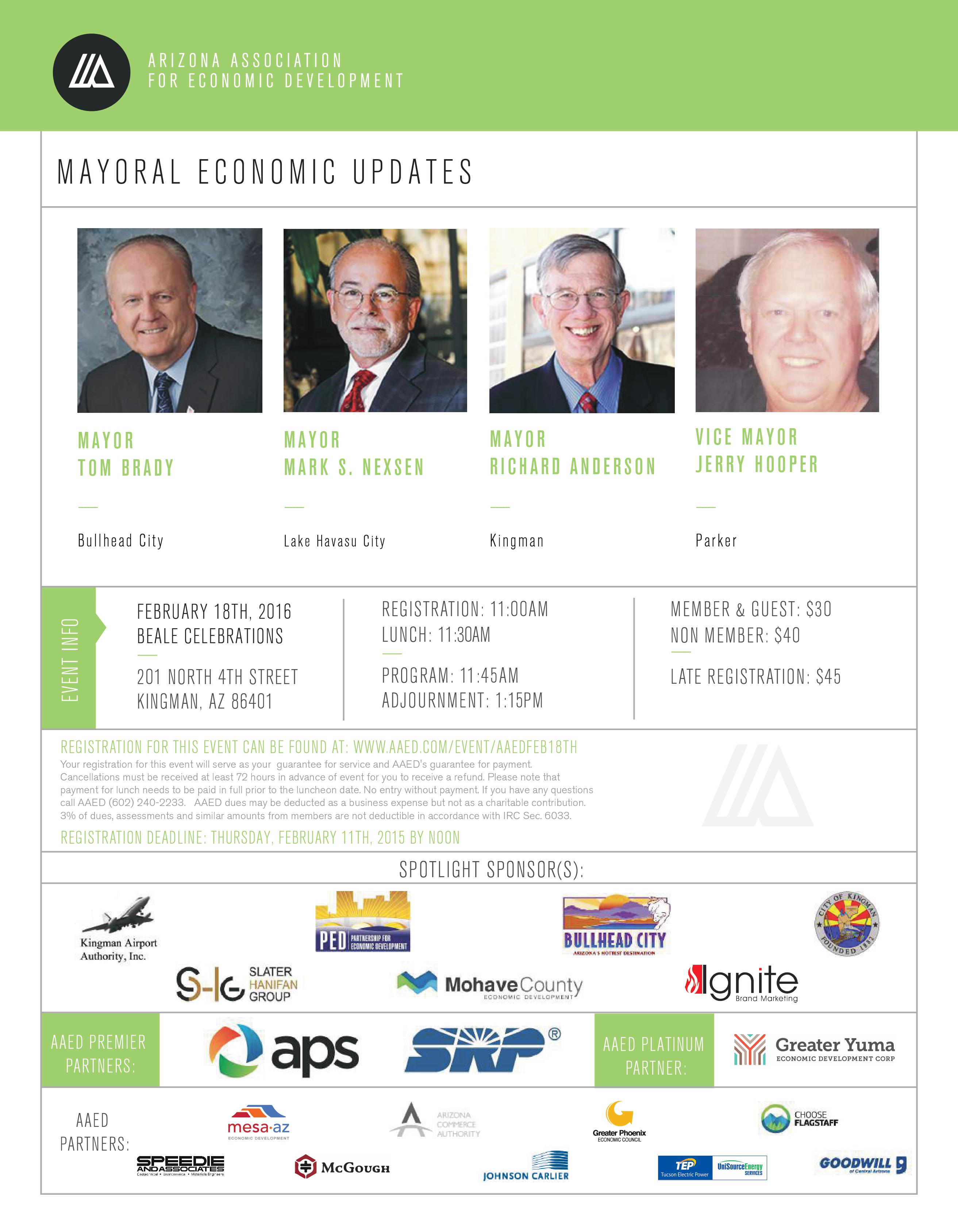 AAED North/West Mayoral Economic Updates @ Beale Celebrations | Kingman | Arizona | United States