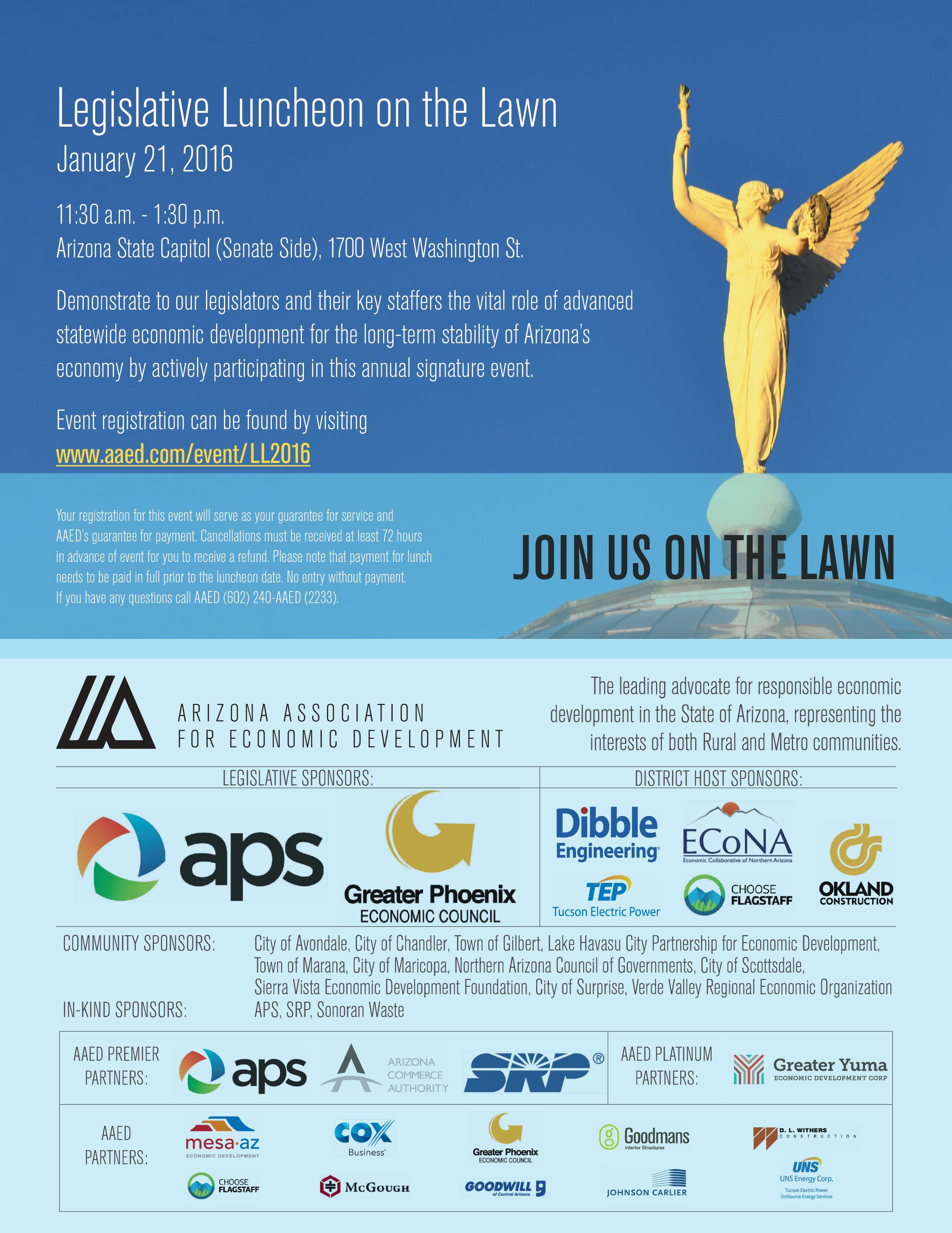 Legislative Luncheon on the Lawn Registration - Arizona Association