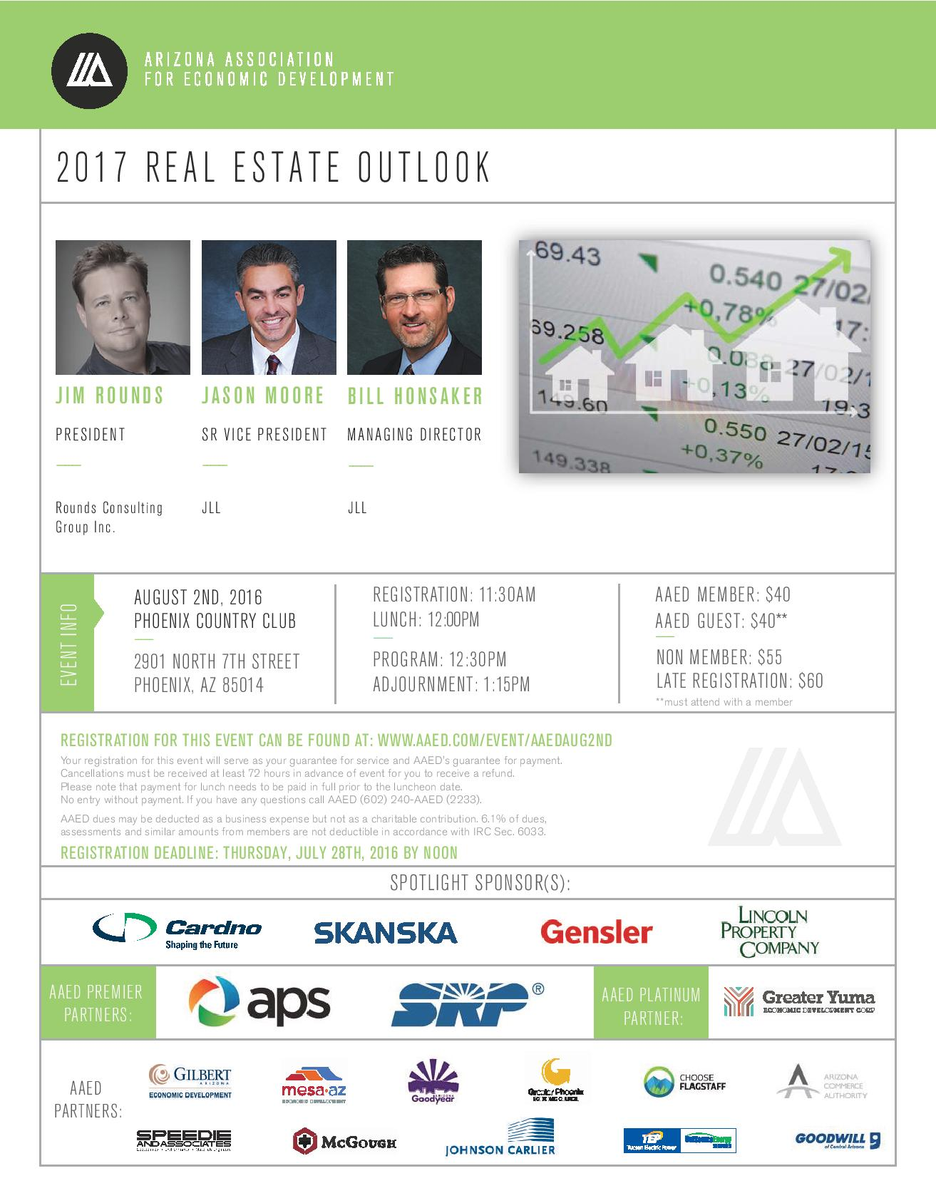 AAED, 2017 Real Estate Outlook @ Phoenix Country Club | Phoenix | Arizona | United States