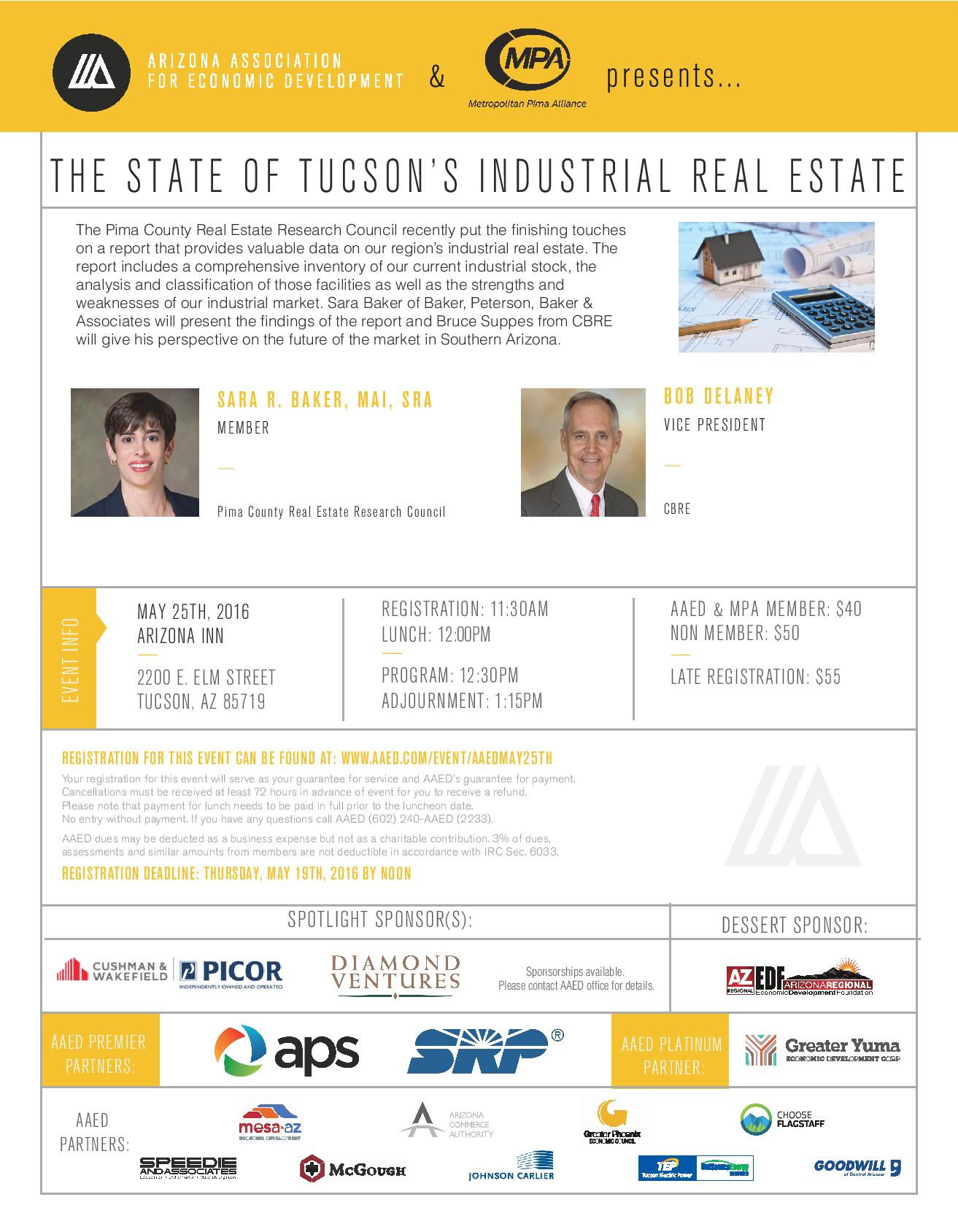AAED, The State of Tucson's Industrial Real Estate @ Arizona Inn | Tucson | Arizona | United States