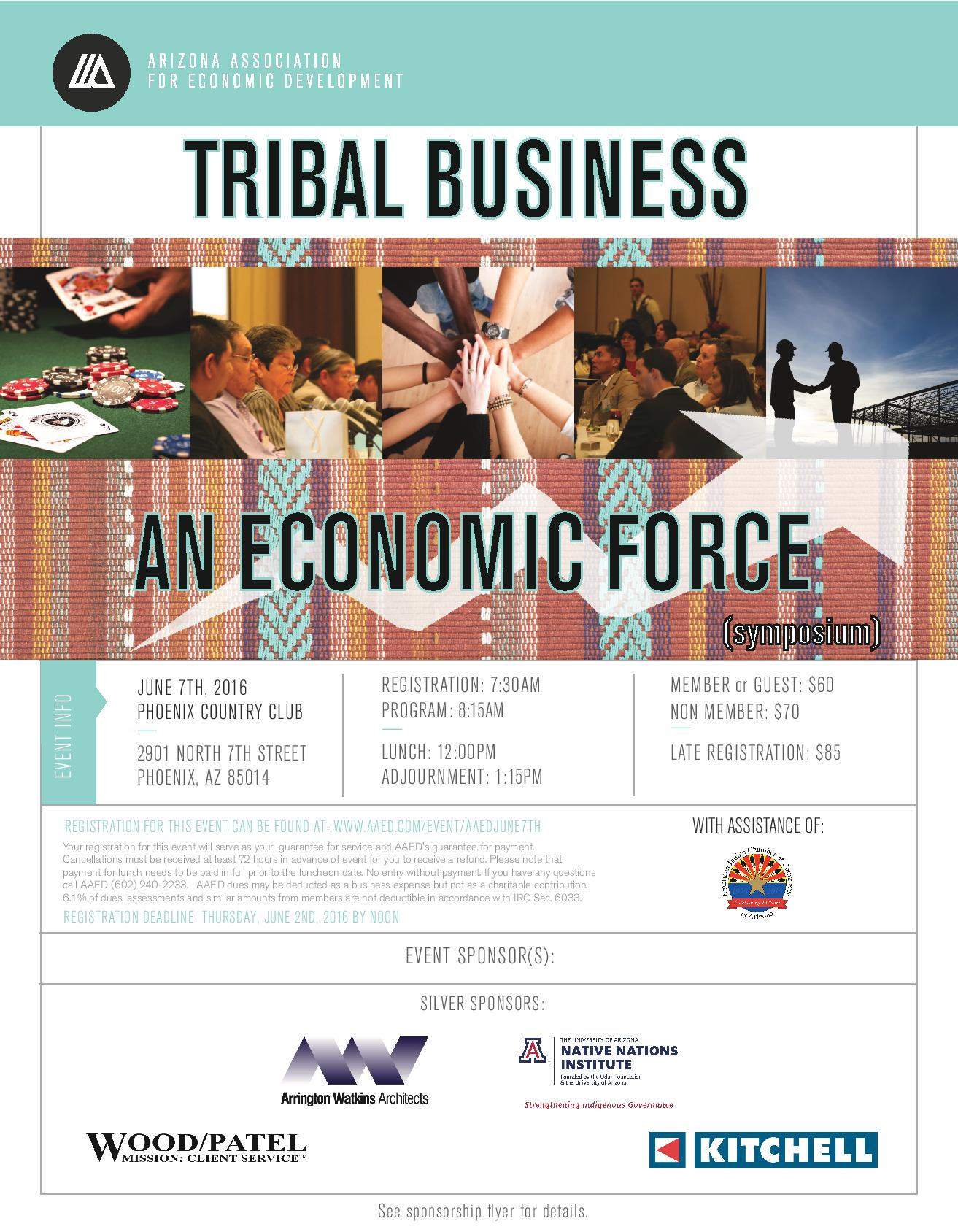 AAED, Tribal Business: And Economic Force (Symposium) @ Phoenix Country Club | Phoenix | Arizona | United States