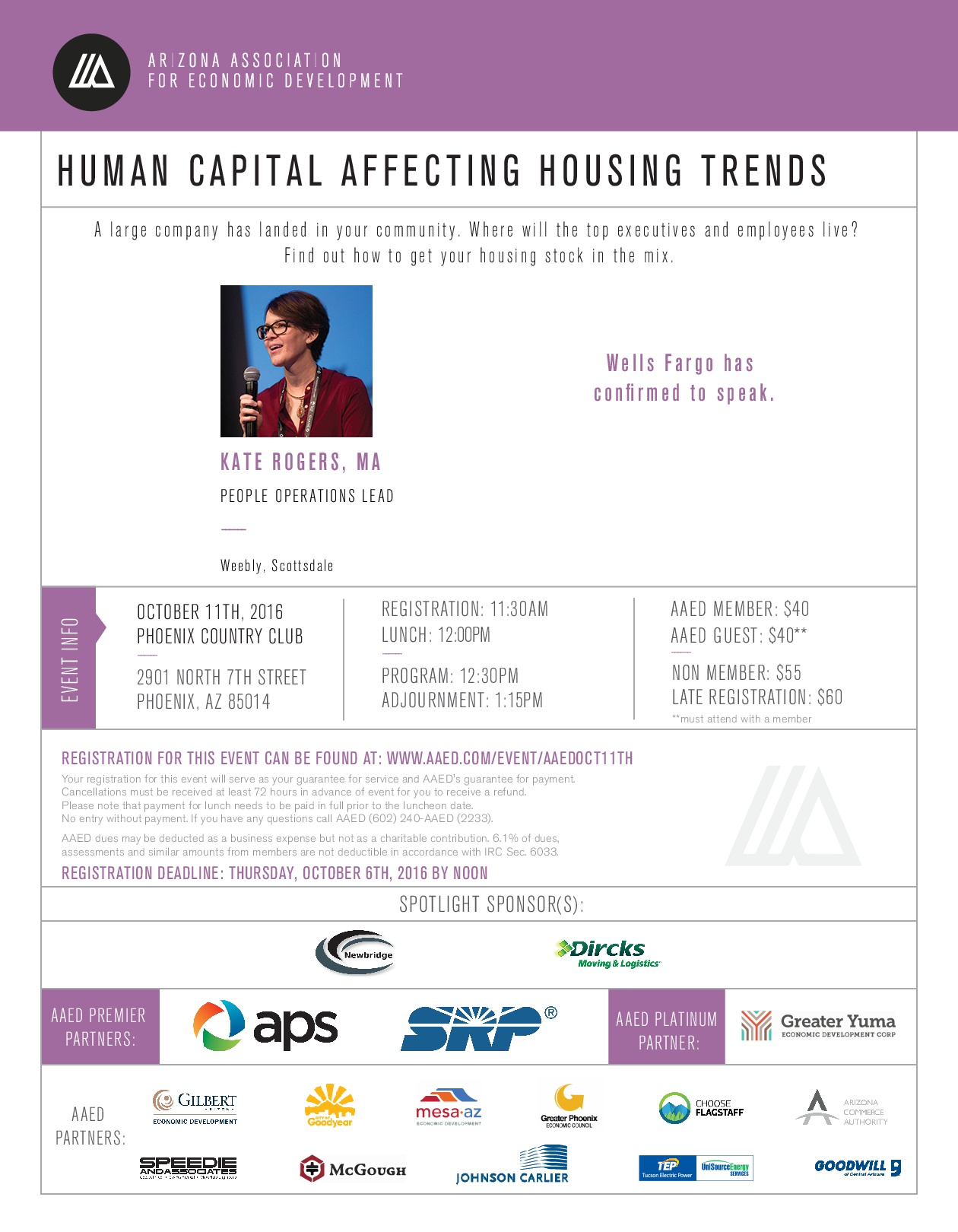 AAED Phoenix Luncheon - Human Capital Affecting Housing Trends @ Phoenix Country Club  | Phoenix | Arizona | United States