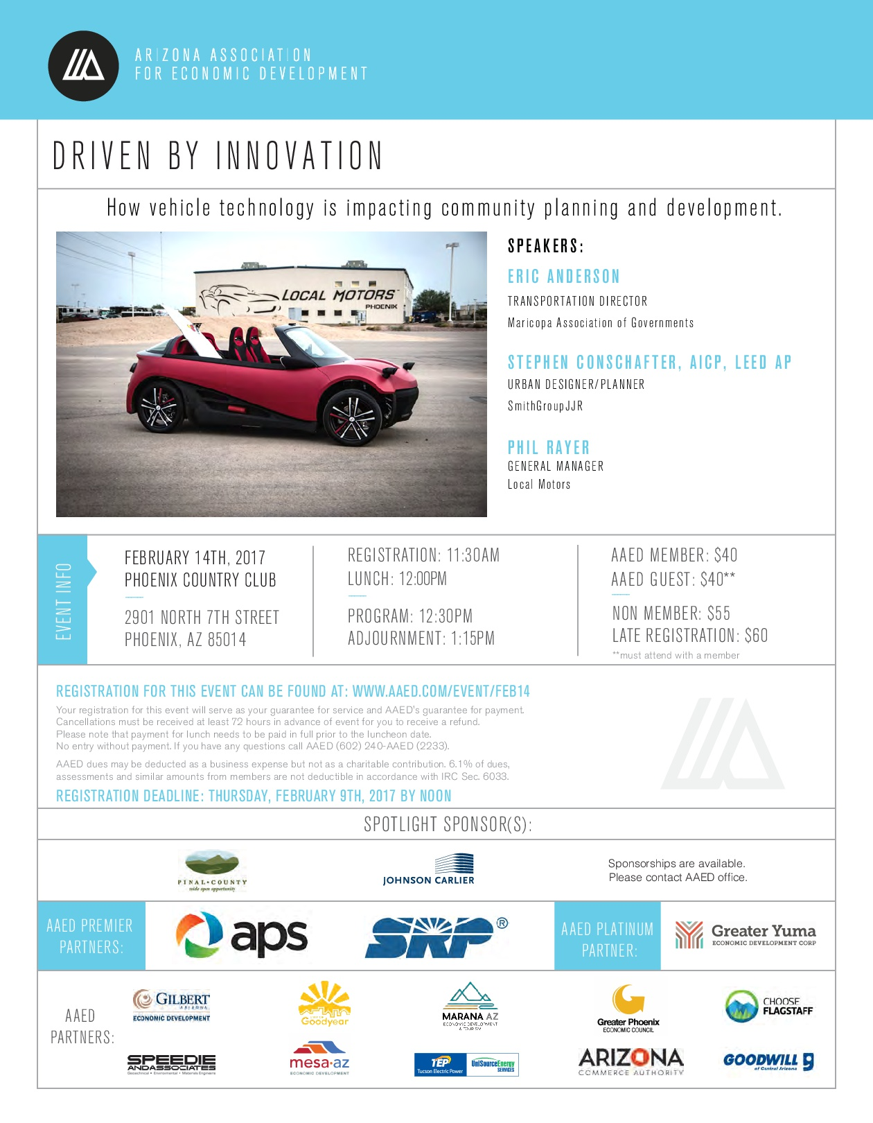 AAED Phoenix Luncheon, Driven By Innovation @ Phoenix | Arizona | United States