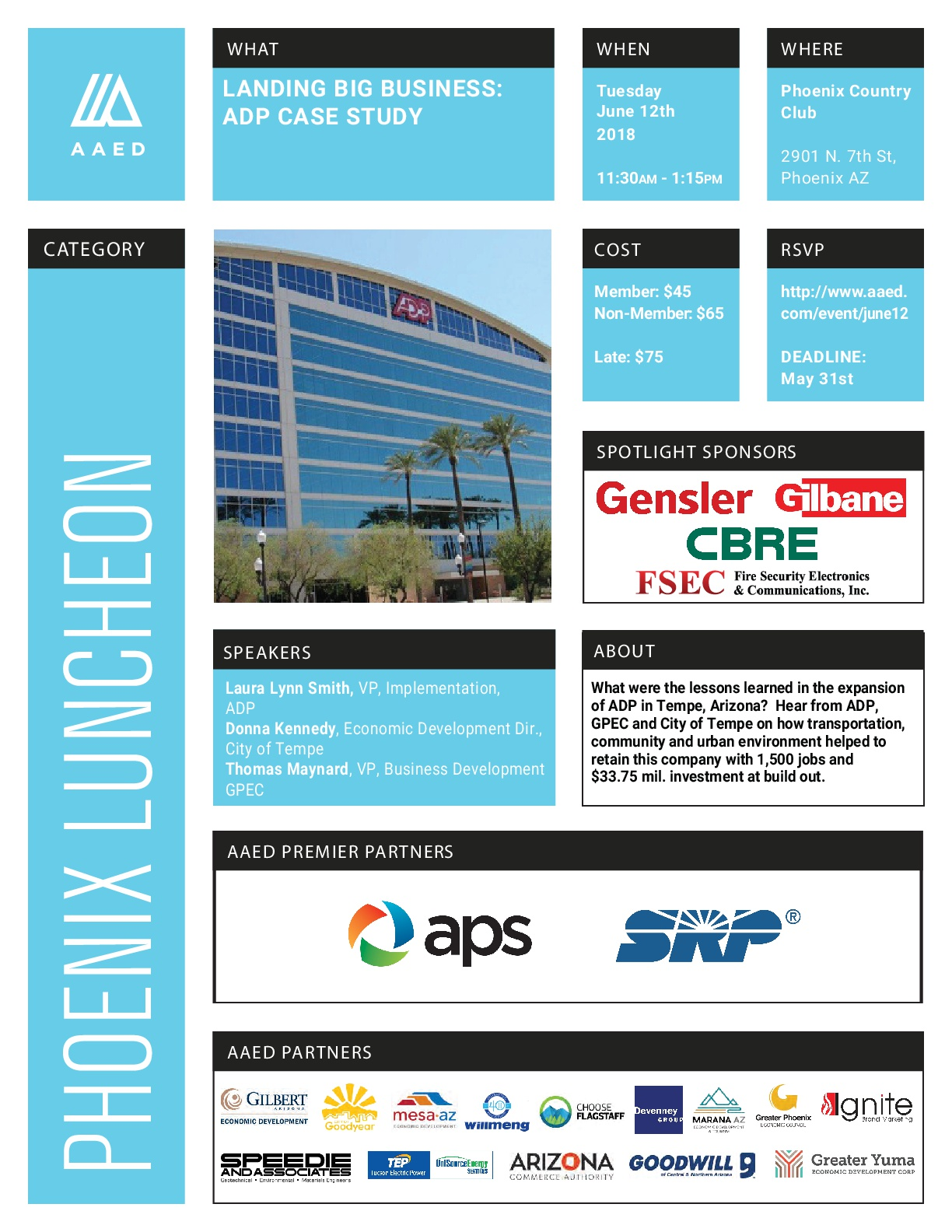 June Phoenix Luncheon: Landing Big Business: ADP Case Study @ Phoenix Country Club | Phoenix | Arizona | United States