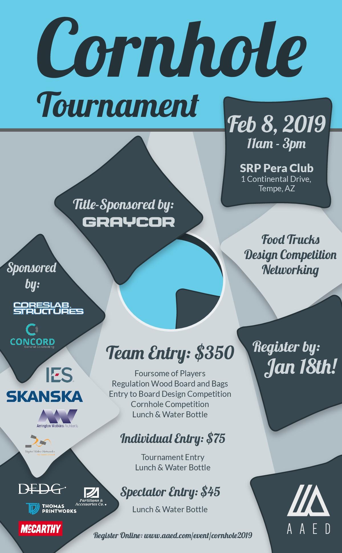 2019 AAED Cornhole Tournament @ SRP Pera Club