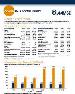 AAMSE Annual Report
