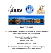 21st Annual ARAV Conference & 13th Annual AEMV Conference with the 46th Annual AAZV Conference
