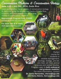 Conservation Medicine and Biology course in Costa Rica