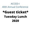 Guest - Tuesday Lunch 2020