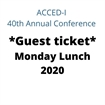 Guest - Monday Lunch 2020