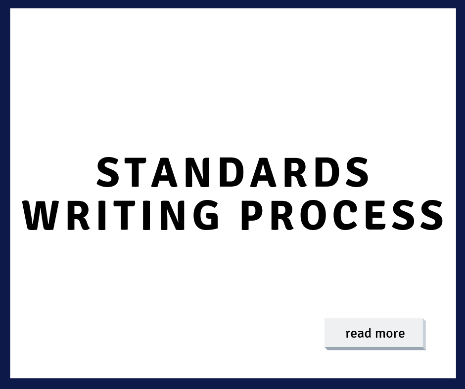 Standards Writing Process