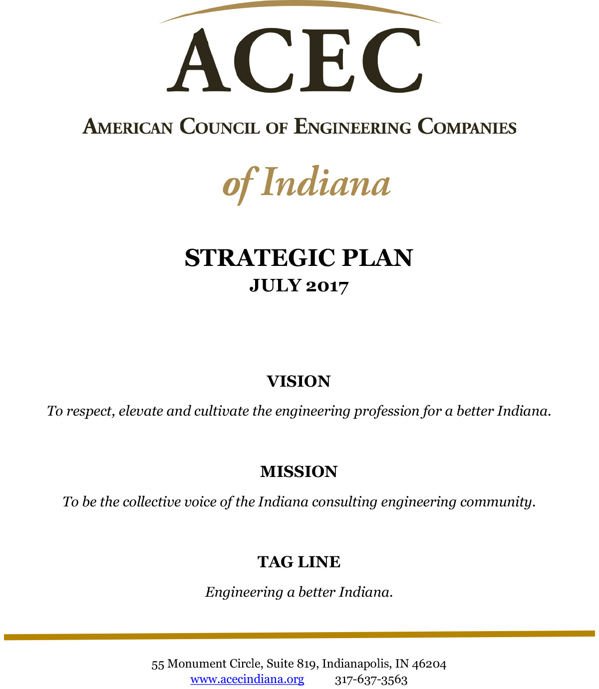 Strategic Plan - American Council of Engineering Companies of Indiana