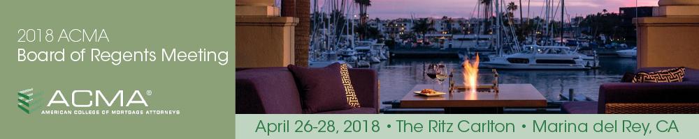 ACMA 2018 Board of Regents Meeting