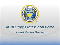 ACMP 2019 Annual Member Business Meeting - Session 1