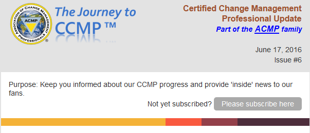 Latest News on CCMP! - The Association of Change Management ...