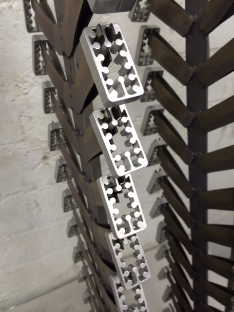 domino anodizing rack