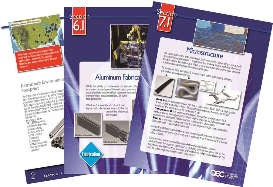The Aluminum Extrusion Manual is a great resource
