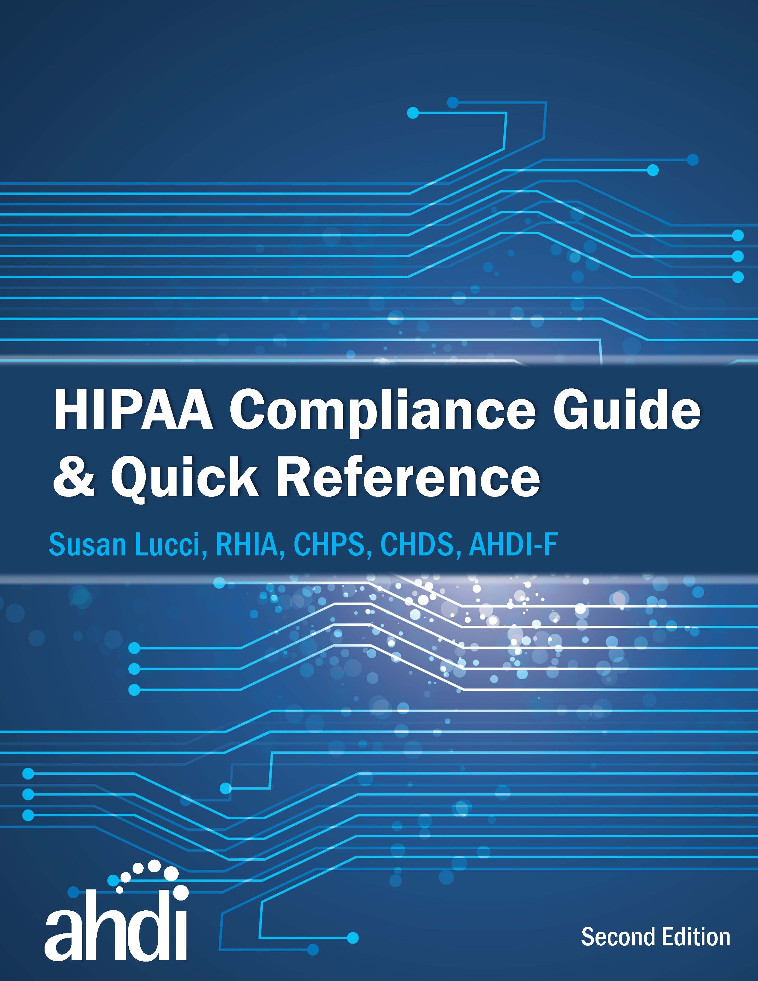 Hipaa compliance association for healthcare documentation integrity hipaa compliance guide quick reference 2nd edition e book 1betcityfo Choice Image