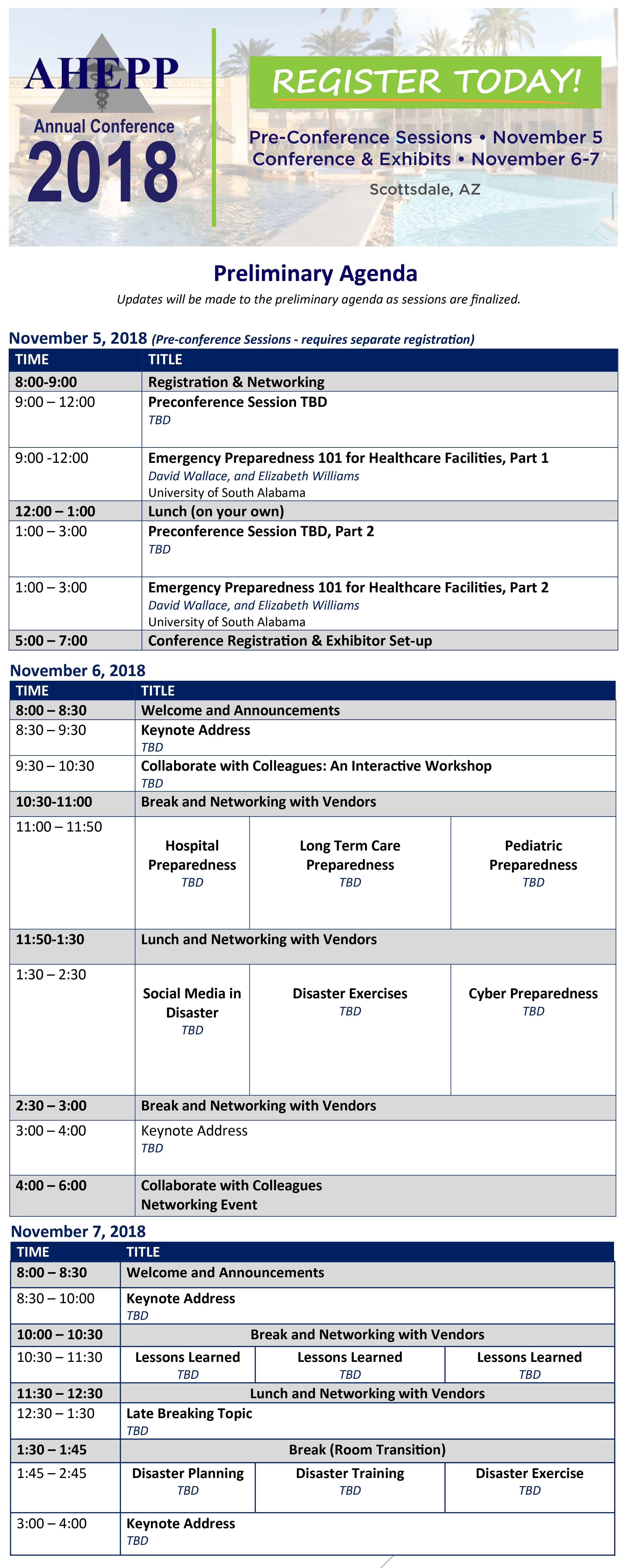 Conference Agenda - Association of Healthcare Emergency Preparedness ...
