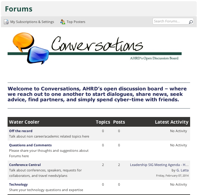 Forums How To - AHRD