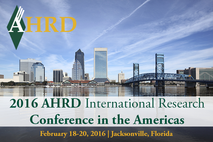 Register now for 2016 AHRD Conference in the Americas, held in Jacksonville Florida in February 2016!
