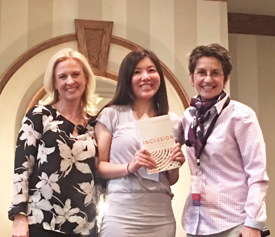 Jacki Lia of the University of Minnesota won a signed copy of the keynote speaker, Jennifer Brown's book, Inclusion: Diversity, the New Workplace & the Will to Change.