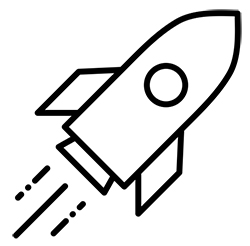 created by by Alina Oleynik noun project - rocket ship