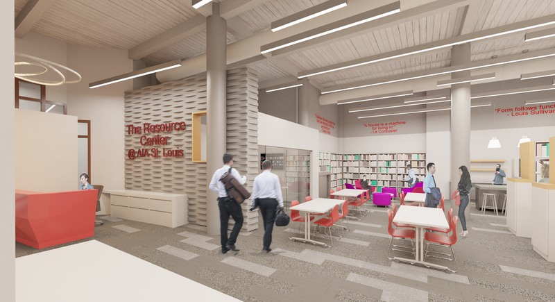 Rendering By TAO + LEE Associates. The Resource Center @ AIA St. Louis