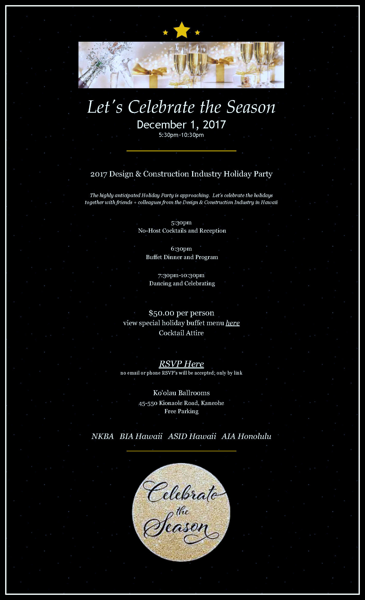design construction industry holiday party aia honolulu 12 1 2017
