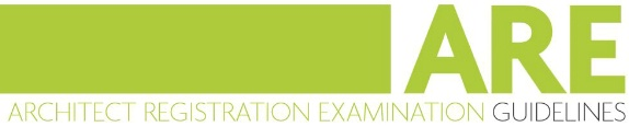 Architect Registration Examination The Architect Registration