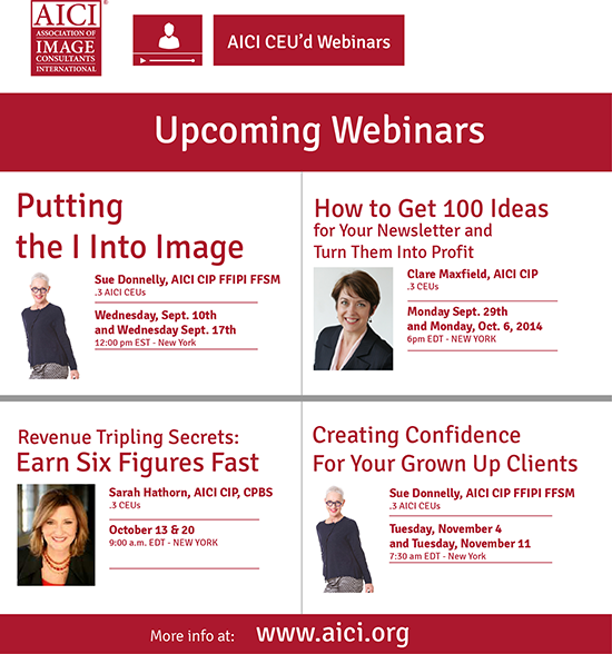 upcoming AICI webinars - Register today!