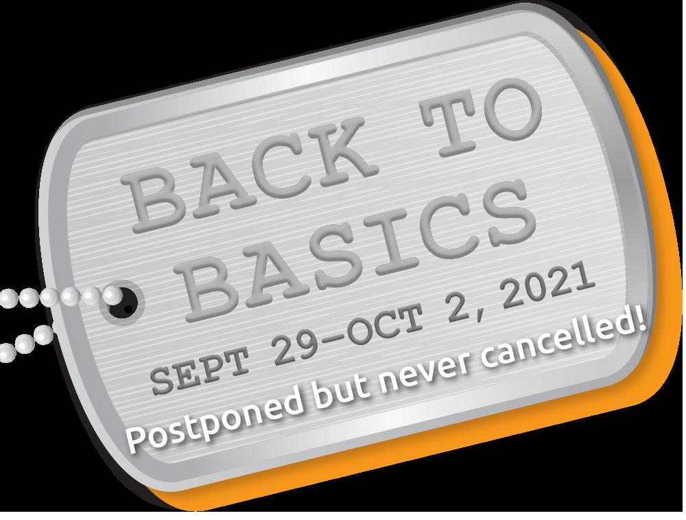 Back to Basics – Sep 29–Oct 2, 2021