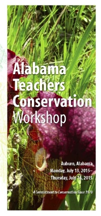 Alabama Teachers Conservation Workshop