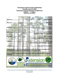Tuscaloosa County Forestry Workshop