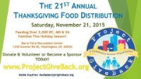 Project GiveBack 2015 Annual Thanksgiving Food Distribution