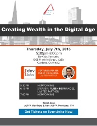 ALPFA SF Speaker Series 3: Creating Wealth In The Digital Age
