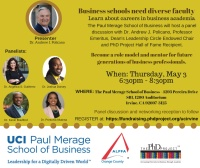 Become A Business Professor Event: UC-Irvine – MAY 3, 2018