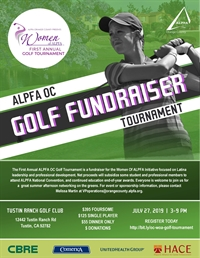 ALPFA OC First Annual Golf Tournament - WOA Fundraiser