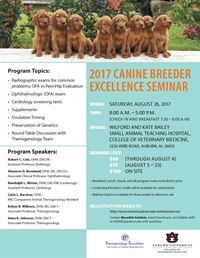 Auburn University Canine Breeder Excellence Seminar