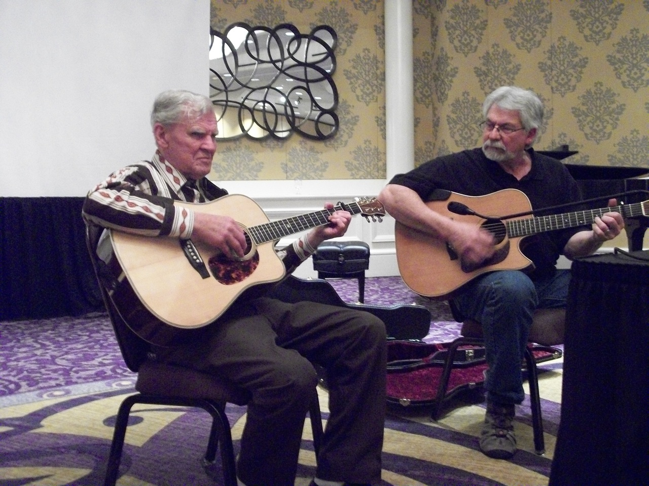 Doc Watson performs at SAM conference. Photo courtesy of Gregory N. Reish.