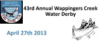43rd Annual Wappingers Creek Water Derby